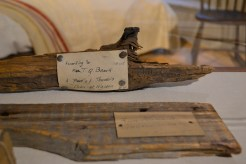 A piece of Thoreau's original cabin at The Concord Museum.