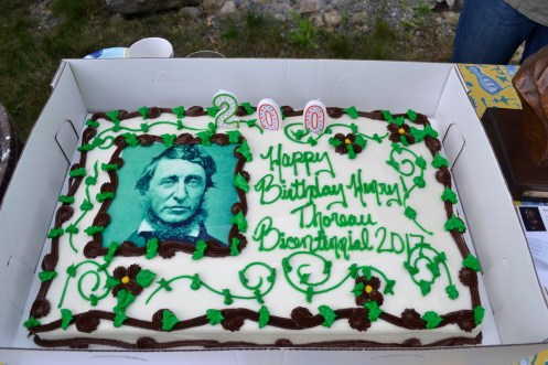 The Thoreau Society celebrates Thoreau's birthday with cake.