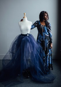 Warlene Rene specializes in the art of the dress. Photo by Tory Germann.