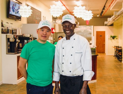 GreenSpoon owner Tom Le (left) and Chef Wainaina