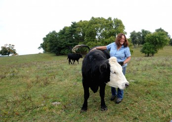 Paula Cruz, a.k.a., The Cow Whisperer. Photo by Tory Germann