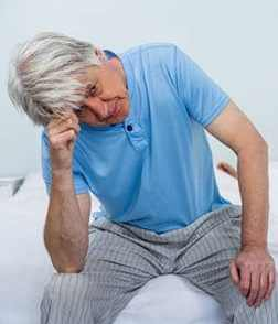 sleep Upset senior man touching head big bigstock