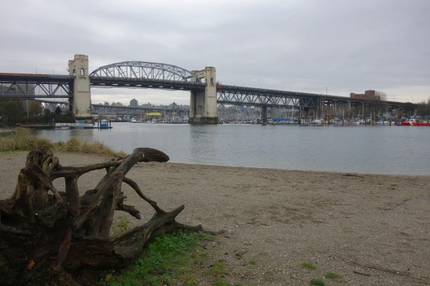 One of many beaches in Vancouver, overlooking Granville Island