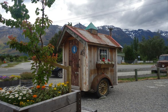 Cute little shed-trailer in Glenorchy at the very well stocked and fabulous Mrs Woollies General Store