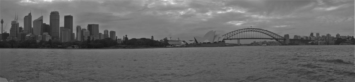 Sydney Harbour on an overcast but warm day, on the ferry ride back from Manly