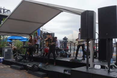 """Australia Day at The Rocks - a great band called 'The Hunting Birds' - """"folk-rock outfit from Fremantle, Western Australia."""""""