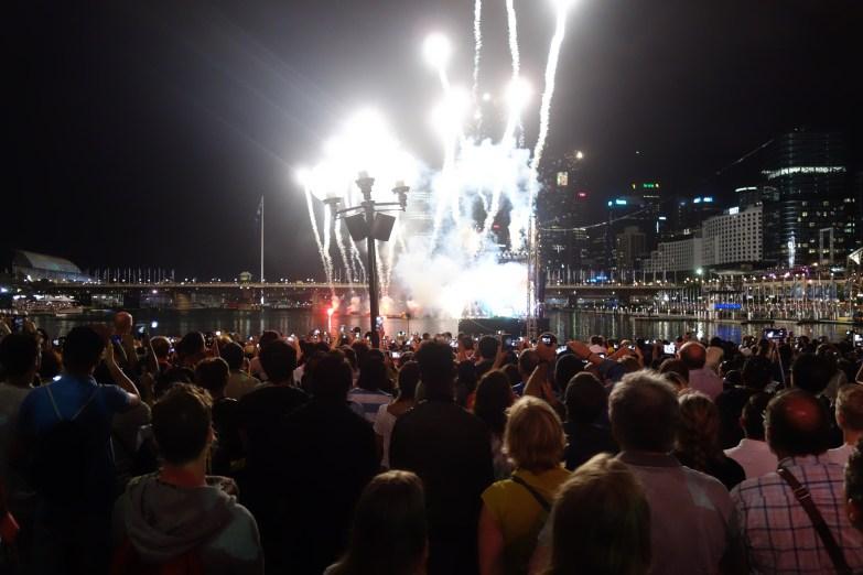 Australia Day fireworks at Darling Harbour