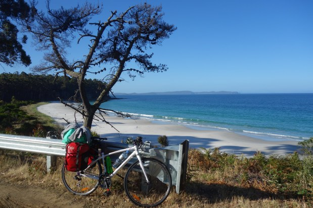 My bike and another fab beach