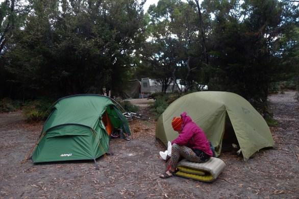 Camping at Jetty Beach