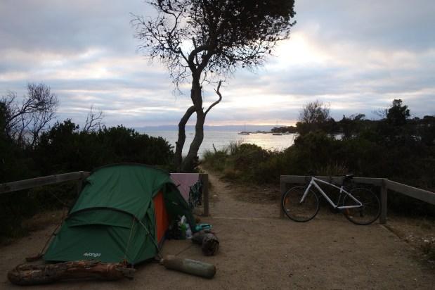 Camping spot, Richardsons Beach, Freycinet National Park
