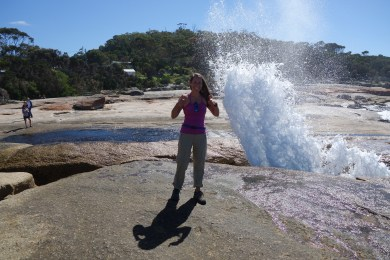 Me at Bicheno blowhole