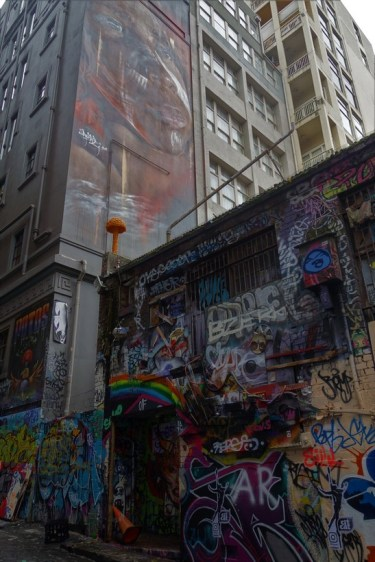 Laneways in the city centre