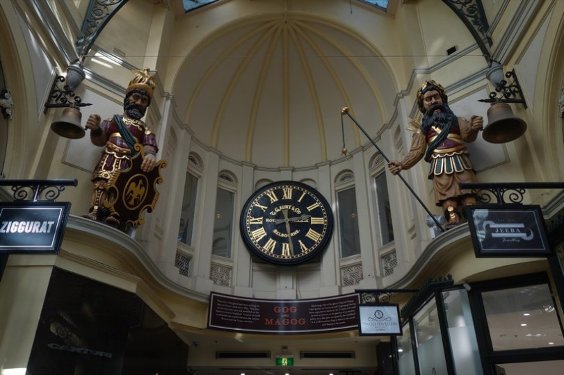 'Gog and Magog' in The Royal Arcade