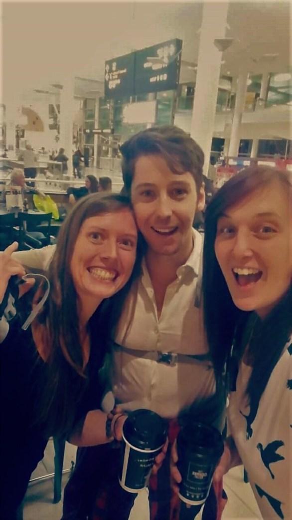 Myself, Dave and Tori at Brisbane airport