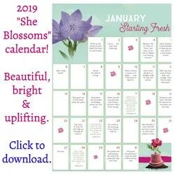 2019 She Blossoms Calendar Growing Forward