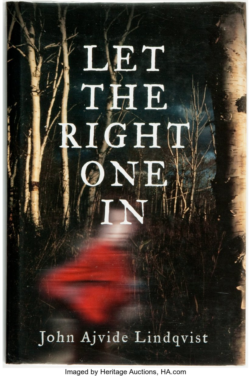 Cover of Let The Right One In by John Ajvide Lindqvist. Cover shows a child running; the child is blurred and the background, displaying stark, leafless trees, is in focus.