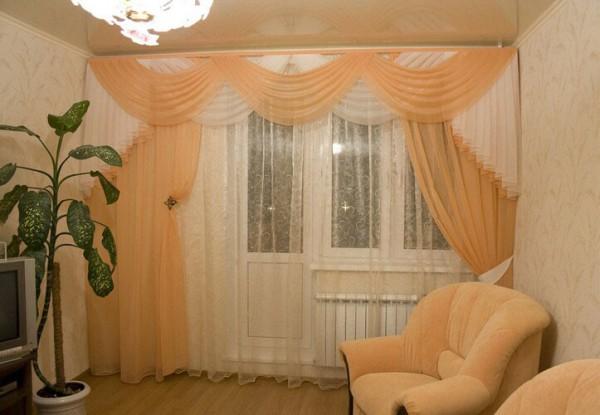 Как выбрать шторы для гостиной: с одним или двумя окнами ...