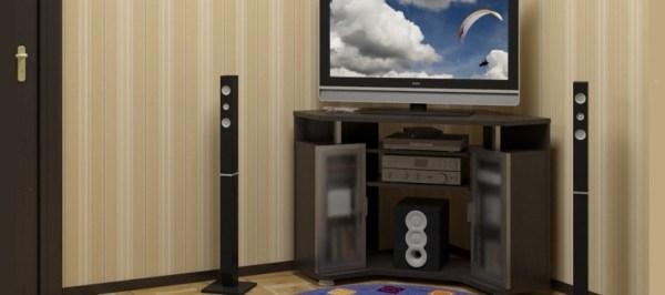 Угловая тумба под телевизор: фото, модели, интерьер
