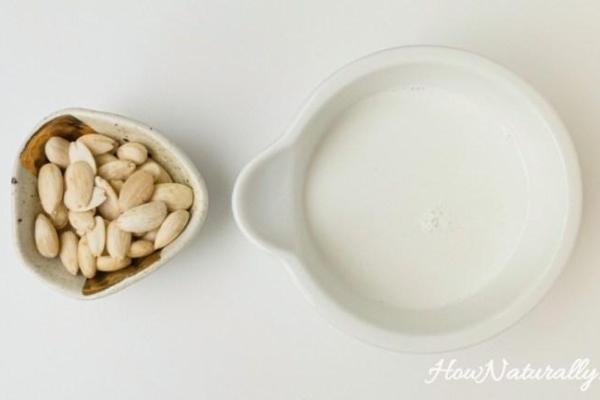 Plant-based homemade almond milk (keto, LCHF, vegan)