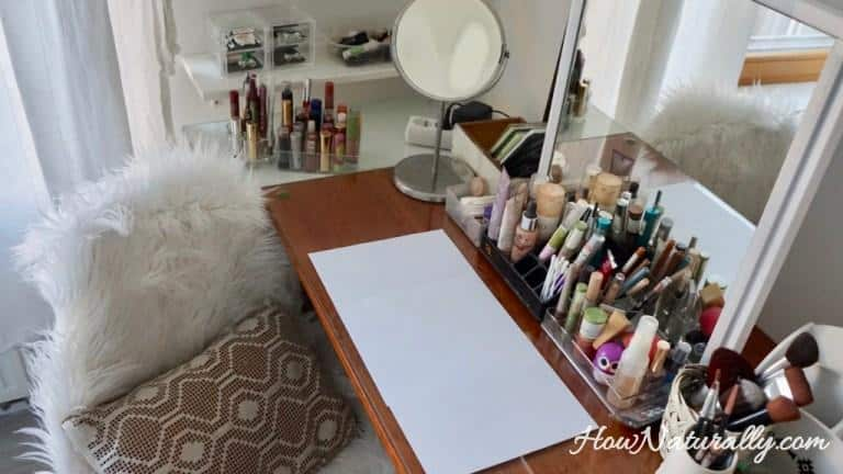 My dressing table and makeup cosmetics, part 1