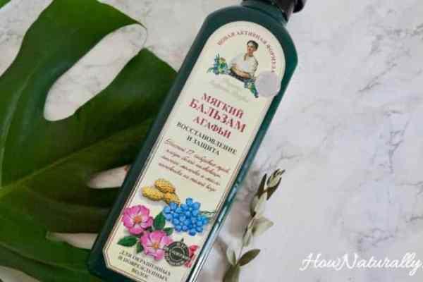Babushka Agafia's recipes, damaged hair balm