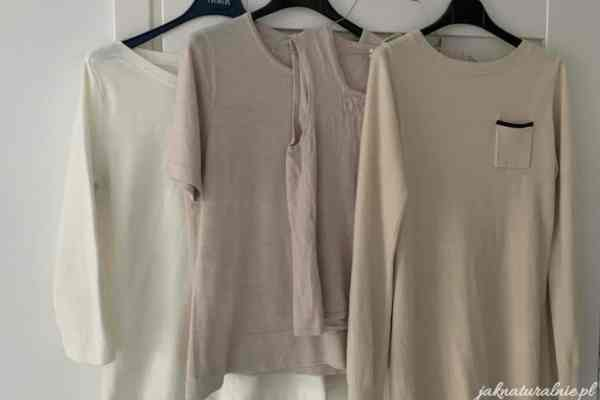 Thrift shop haul (2) | basic and beige clothes for spring