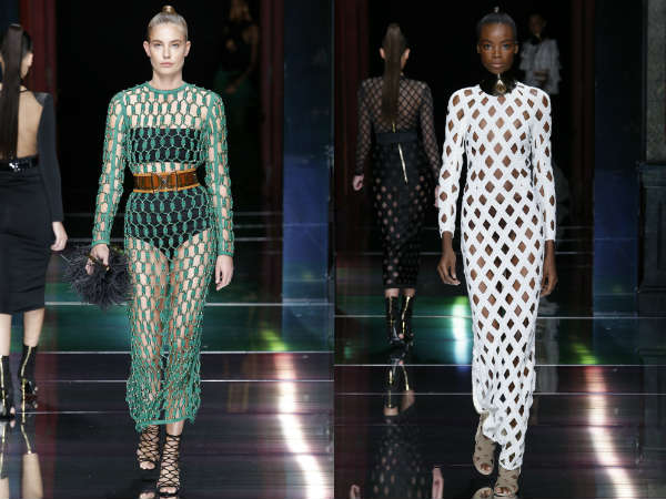 Perforated dresses spring-summer 2017