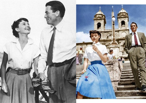 White shirt and Audrey Hepburn