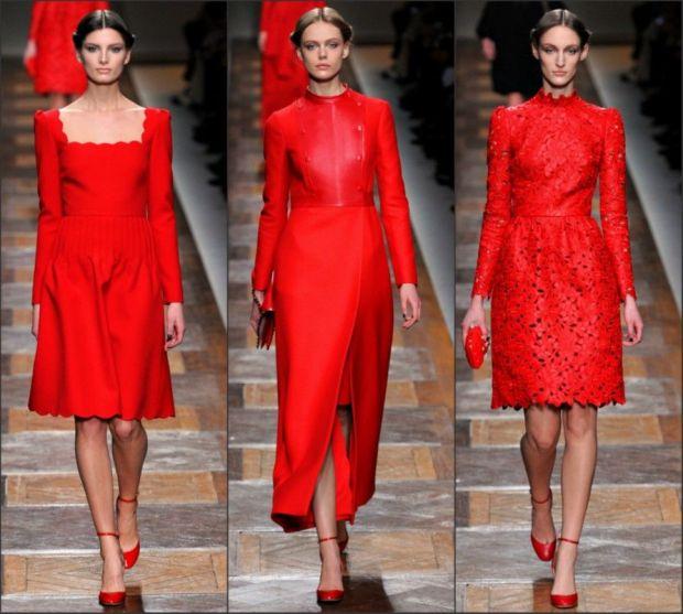 Valentino Garavani red dresses