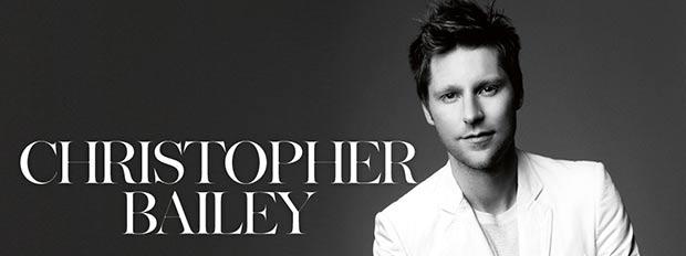 British fashion designers Christopher Bailey