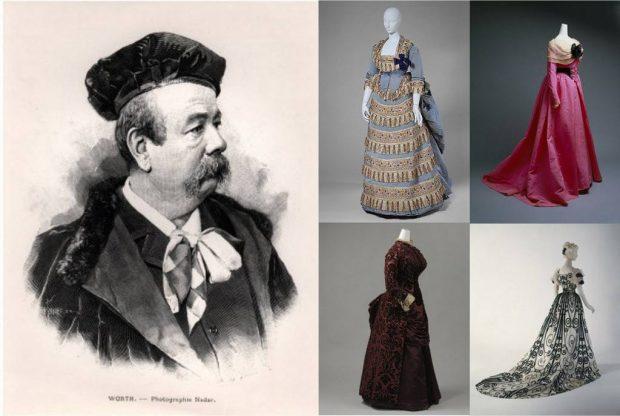 British fashion designers Charles Frederick Worth