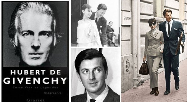 French fashion designers Hubert de Givenchy