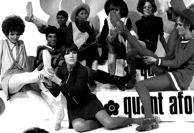 Mary Quant with models