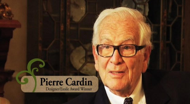 French fashion designers Pierre Cardin