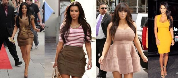 Best Kim Kardashian mini dresses