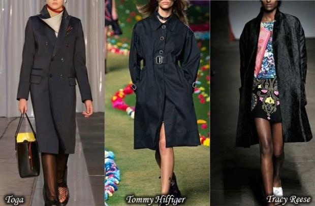 Black trench coat Spring 2016