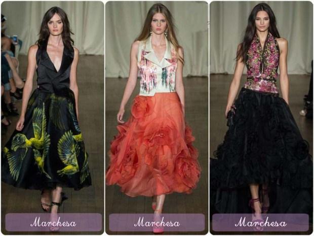 Models of puff dresses