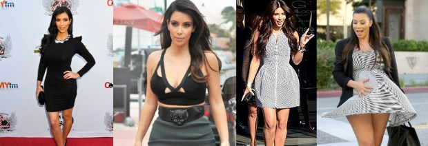 Best Kim Kardashian decolte dresses