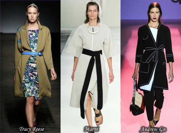 Straps trench coats Spring 2016