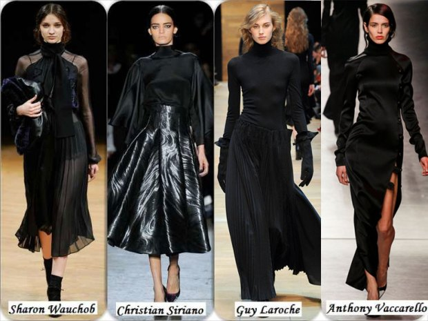 Incredibly beautiful and elegant models of black dresses Winter 2016