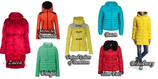 Trendy color of down jackets Fall Winter 2015 2016
