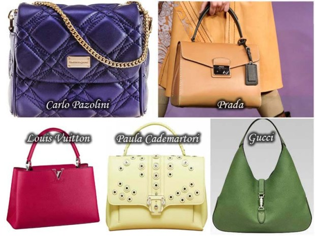 Variety of colors and shades handbags Spring 2016