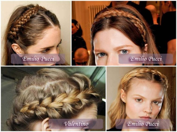 Hairstyles with braids New Year 2016