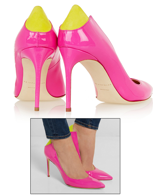 Pink Brian Atwood shoes