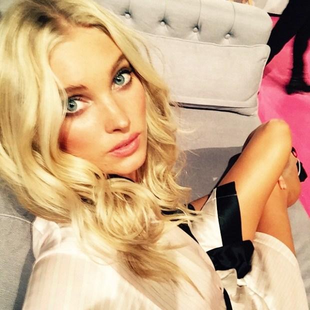 Elsa Hosk Victoria's Secret show London 2015