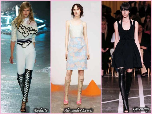 Open toe trendy boots Spring 2016