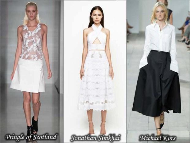 Trapezoidal trendy skirts Spring 2016