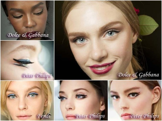 Eyeliner wing makeup New Year 2016