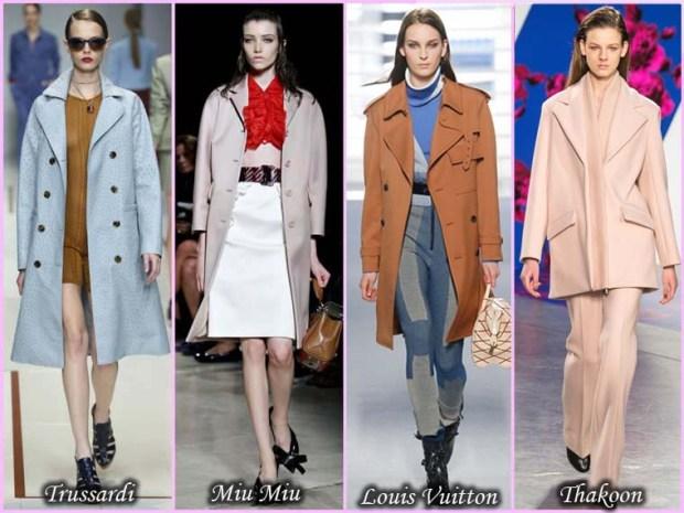 Pastel shades coats Spring 2016
