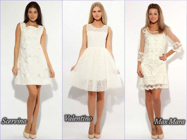 Cute short white prom dress 2016